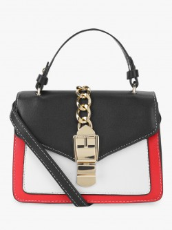 People Colour Block Sling Bag