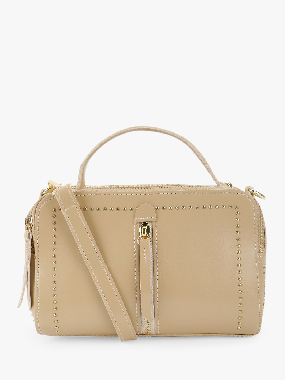 People Beige Centre Chain Detail Sling Bag 1