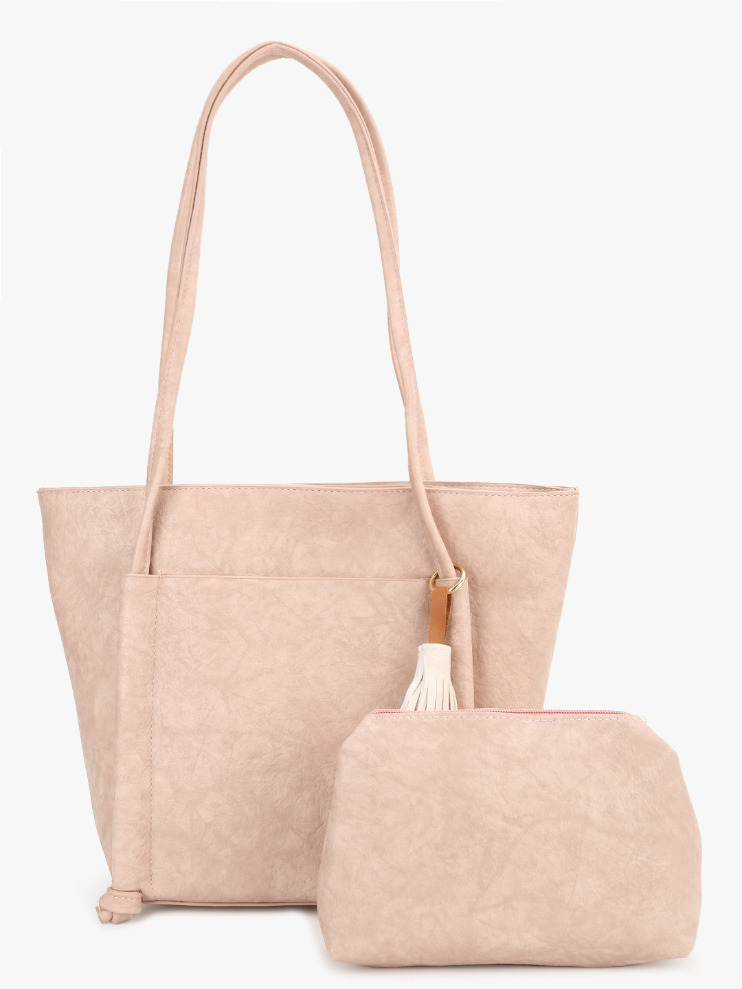 People Tan Tassel Detail Tote Bag 1