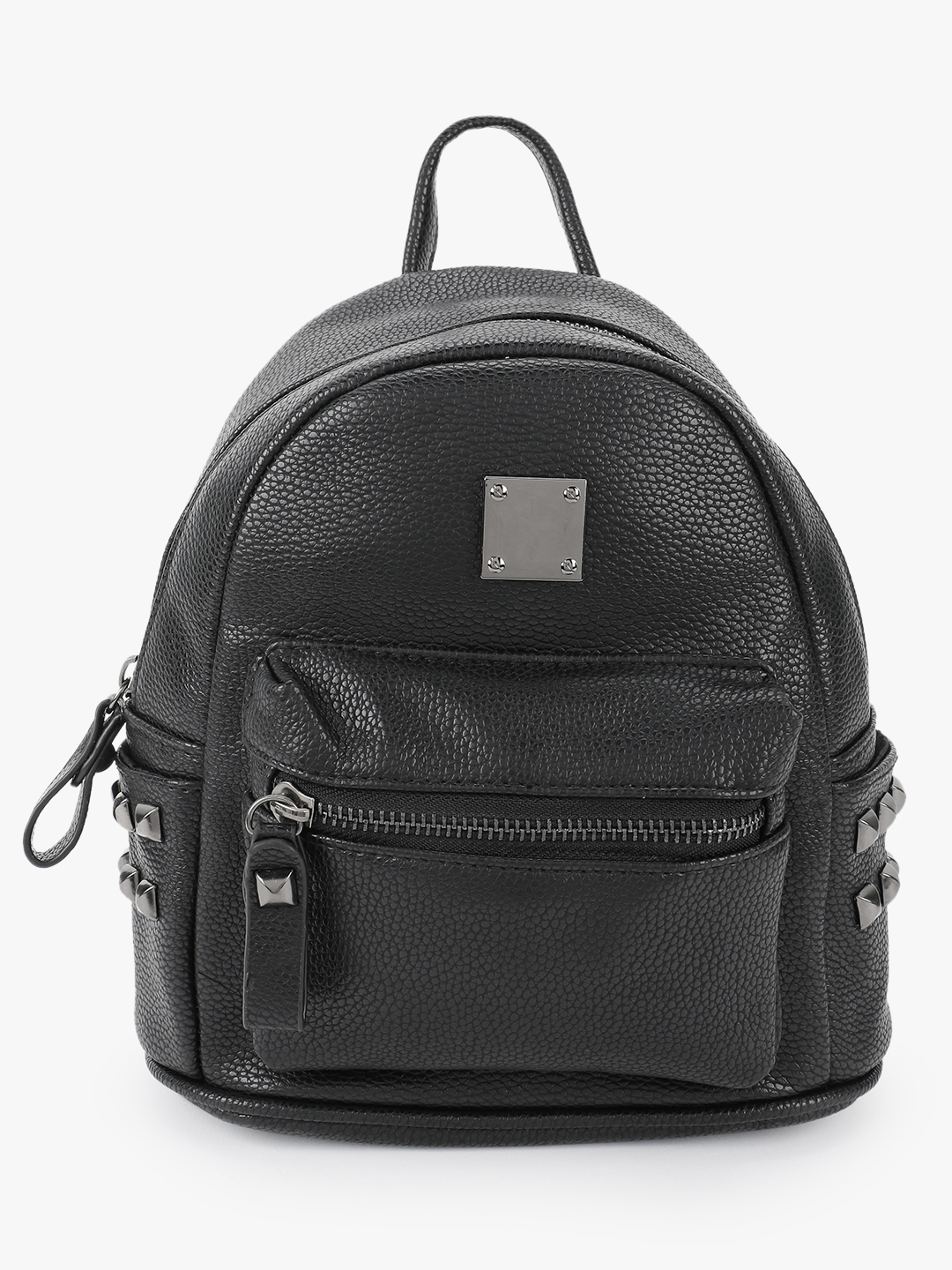 People Black Studded Pocket Mini Backpack 1