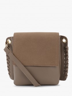 People Suede Flap Sling Bag