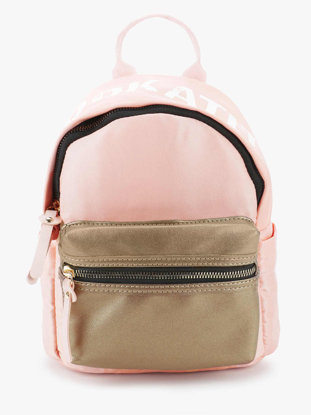 People Pink Metallic Front Pocket Backpack 1