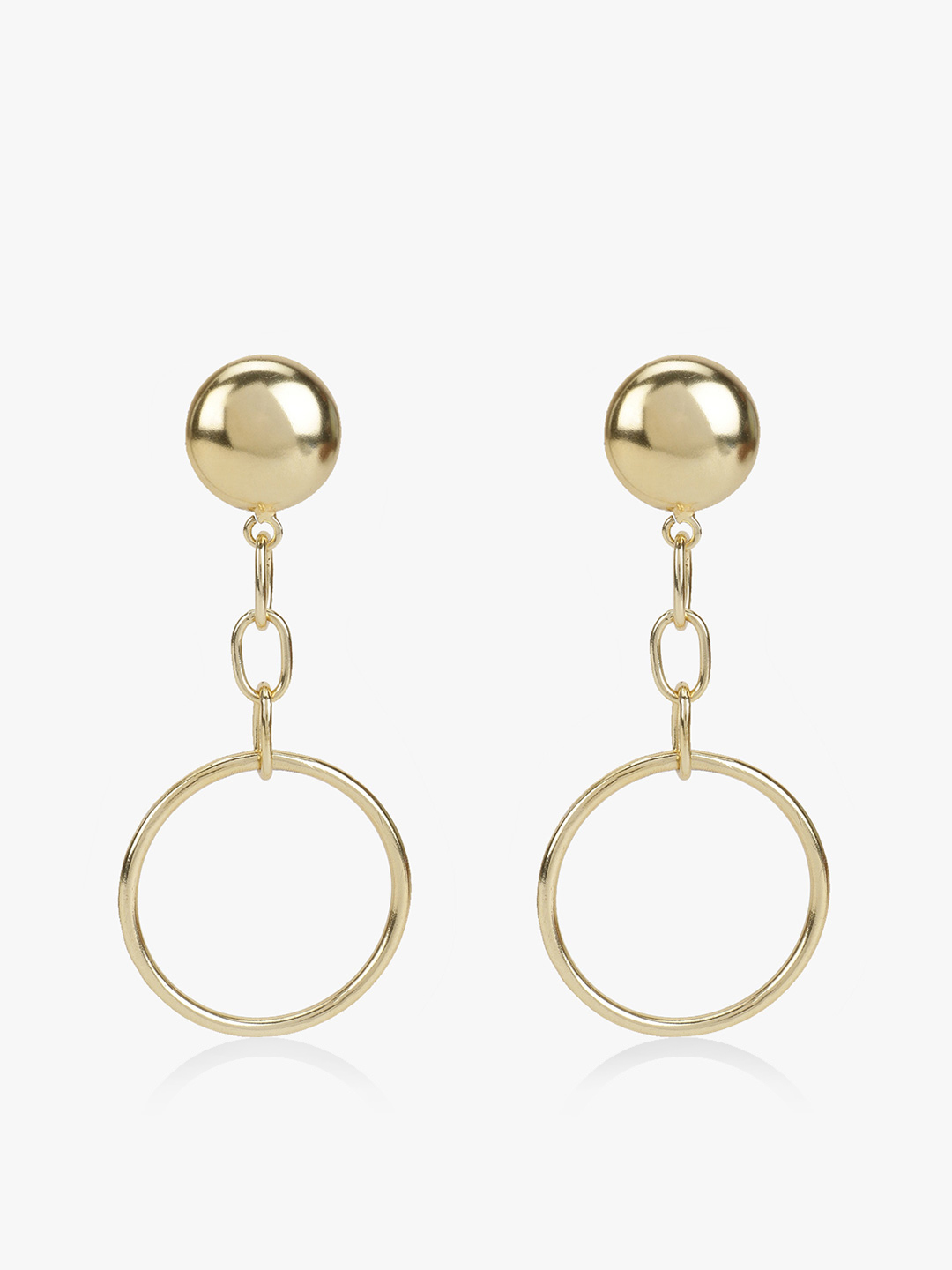 Zero Kaata Gold Drop Down Hoop Earrings 1