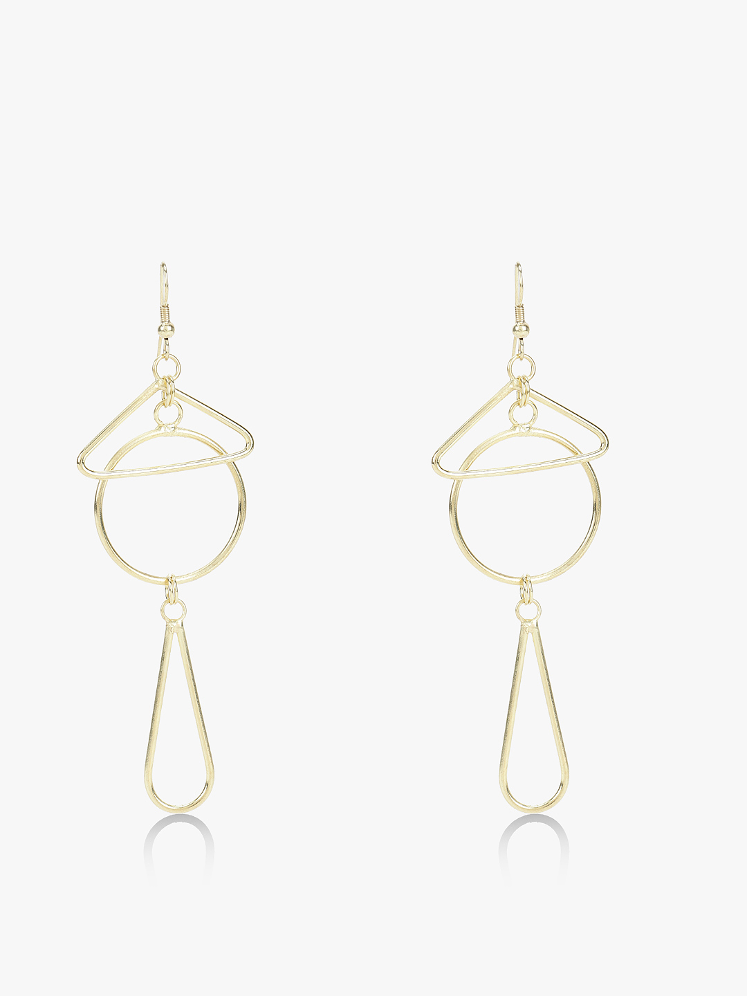 Zero Kaata Gold Geometric Drop Down Earrings 1