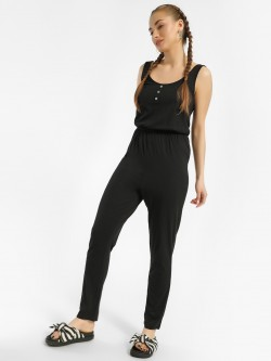 New Look Button Front Sleeveless Slim Jumpsuit