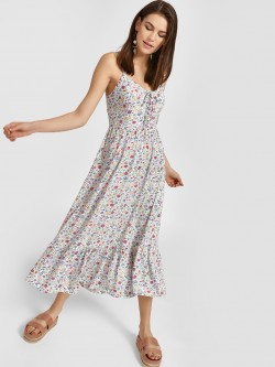 New Look Floral Print Midi Dress