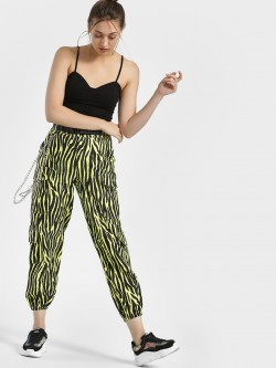 KOOVS Tiger Print Cargo Utility Trousers