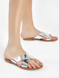 People Criss Cross Metallic Slides