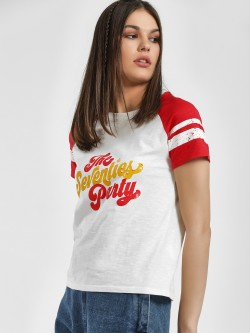 People The Seventies Party Print T-Shirt