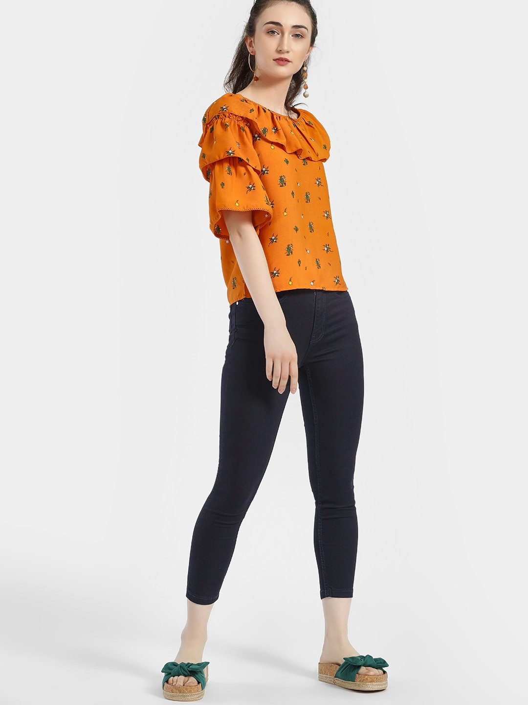 People Blue Basic Cropped Skinny Jeans 1