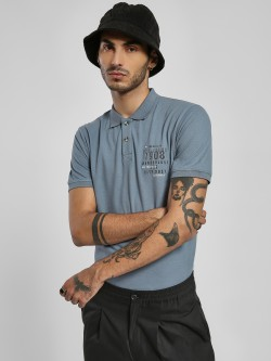 Lee Cooper Slogan Print Polo Shirt