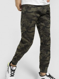 TRUE RUG Camo Print Cuffed Trousers
