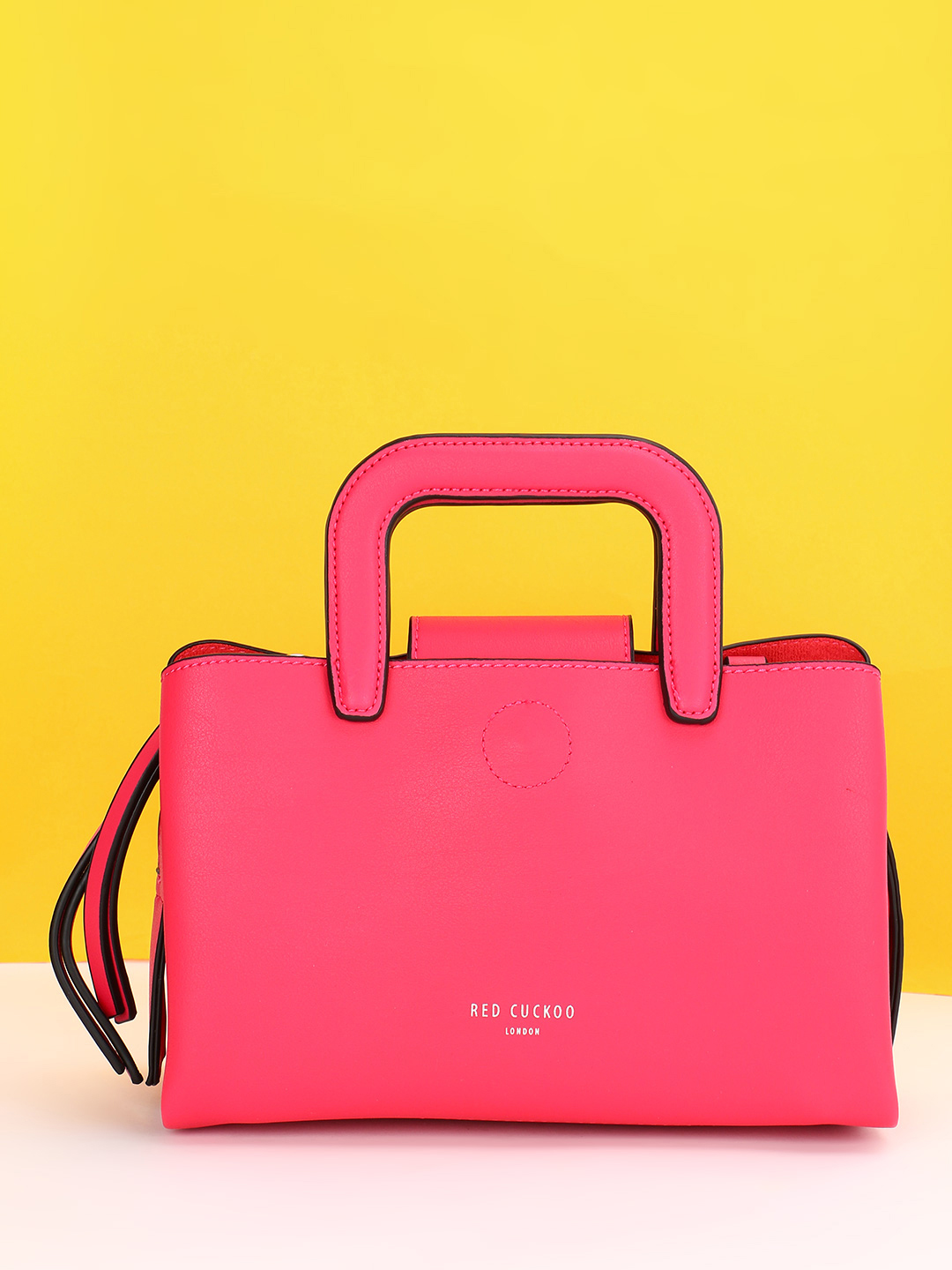 Red Cuckoo Pink Structured Tote Bag 1