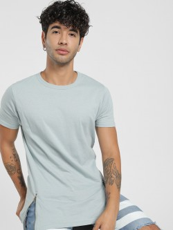 Disrupt Side Zipper Longline T-Shirt