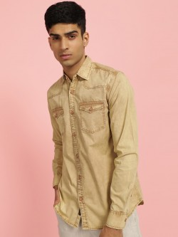 Disrupt Overdyed Front Pocket Casual Shirt