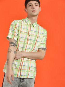 KOOVS Multi-Check Short Sleeve Shirt