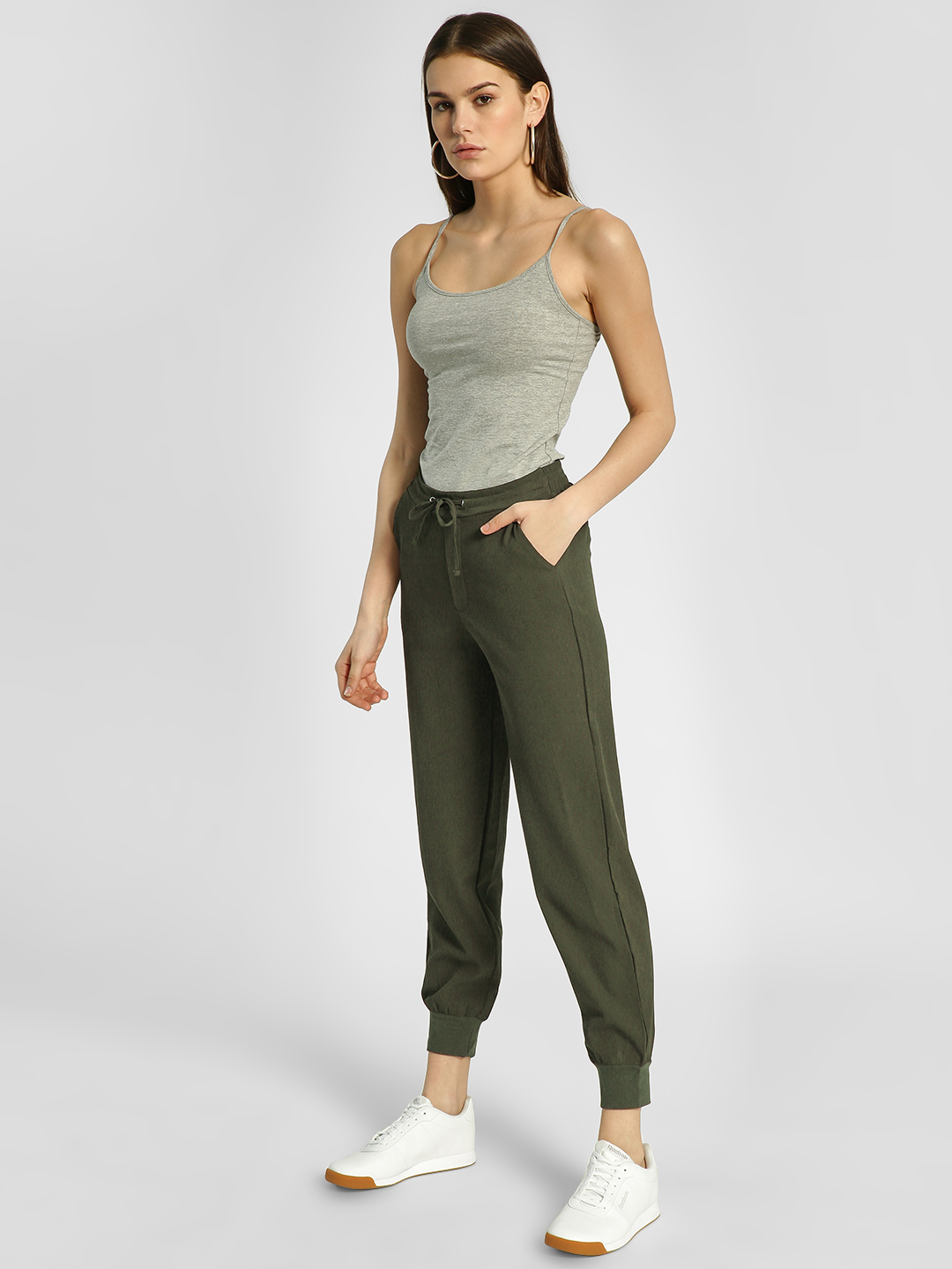HEY Olive Woven Drawcord Joggers 1
