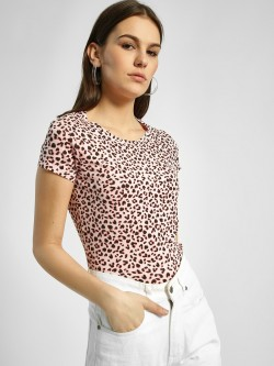 HEY Leopard Print Short Sleeve T-Shirt