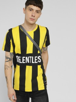 Kultprit Relentless Colour Block Stripe T-Shirt