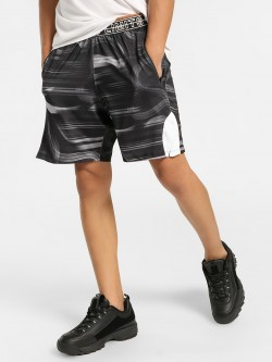 K ACTIVE KOOVS Marble Print Contrast Panel Shorts