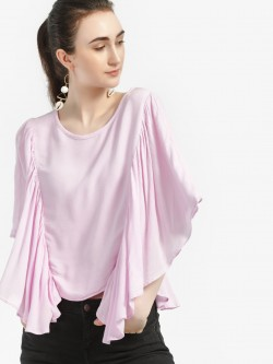 Kisscoast Flared Batwing Sleeve Blouse