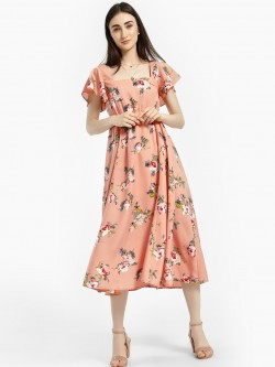 Kisscoast Floral Print Midi Dress