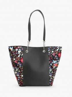 Gusto Floral Print Panel Tote Bag