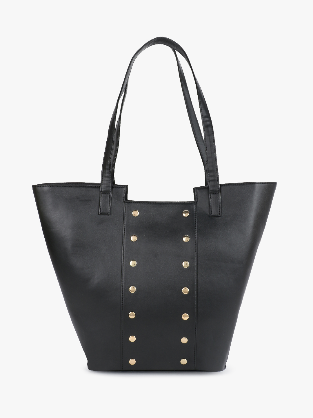 Gusto Black Studded Tote Bag 1