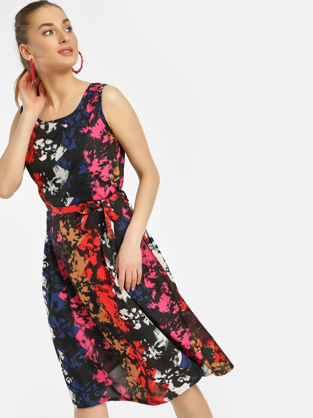 MIWAY Multi Sleeveless Printed Shift Dress 1