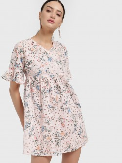 Only Floral Print Broderie Shift Dress