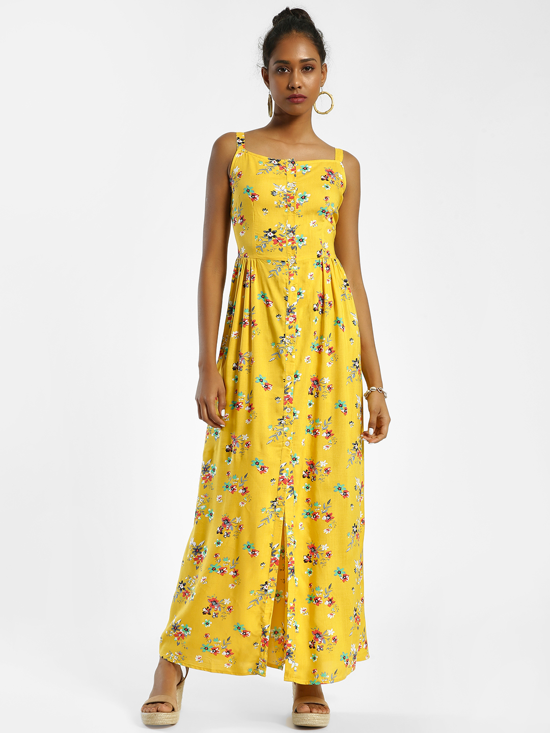 KOOVS Multi Floral Print Maxi Dress 1
