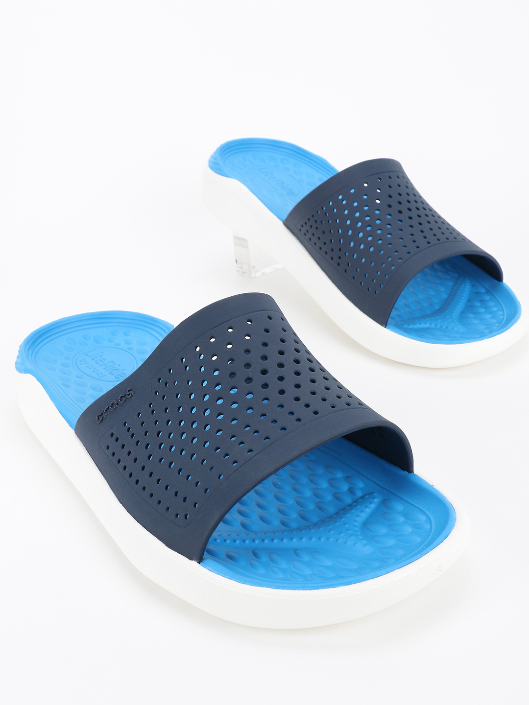 Crocs Blue LiteRide Slides 1