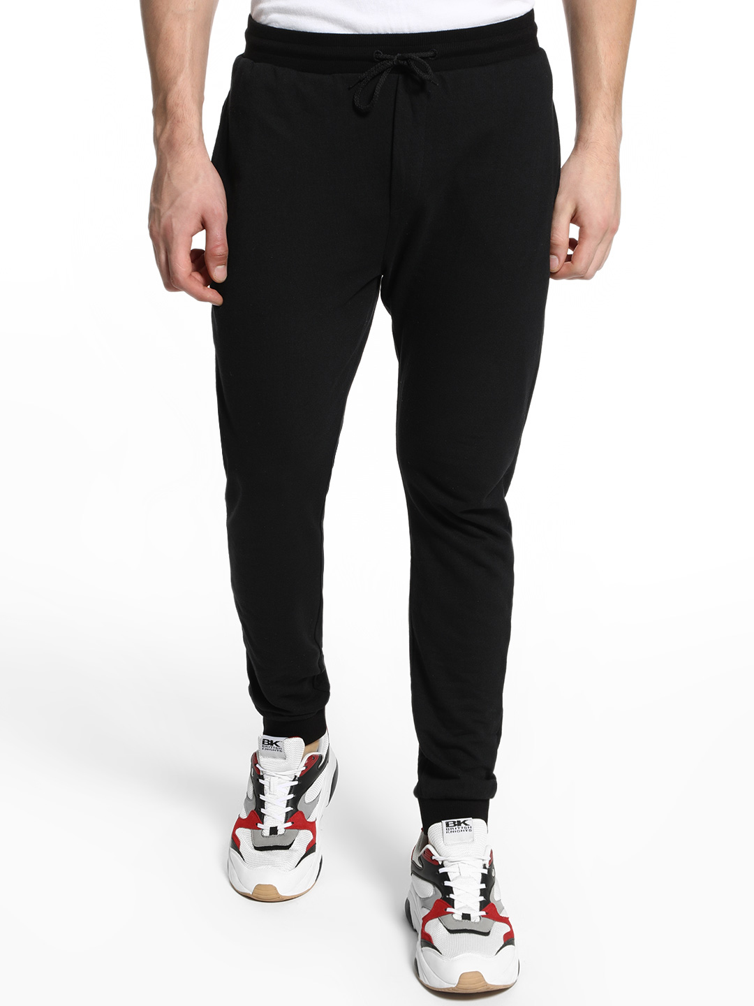 KOOVS Black Basic Slim Fit Joggers 1