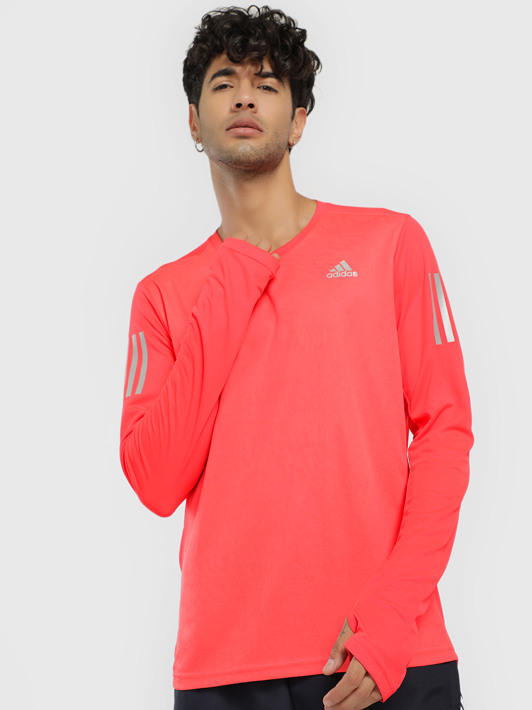 Adidas Red Own The Run Long Sleeve T-Shirt 1