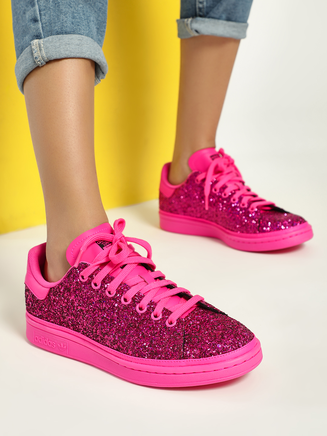 Adidas Pink Stan Smith Shoes 1