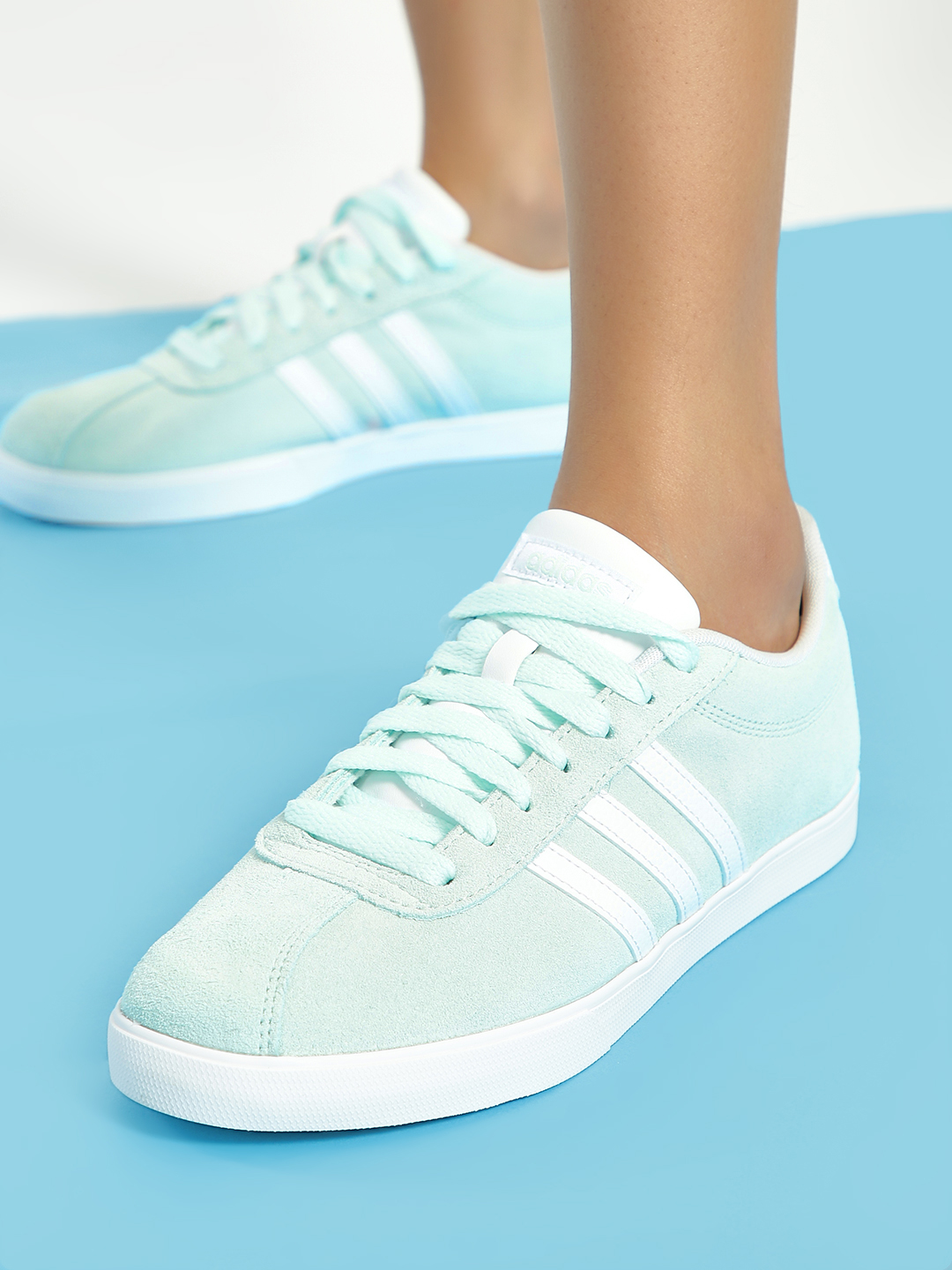 Adidas Green Courtset Shoes 1