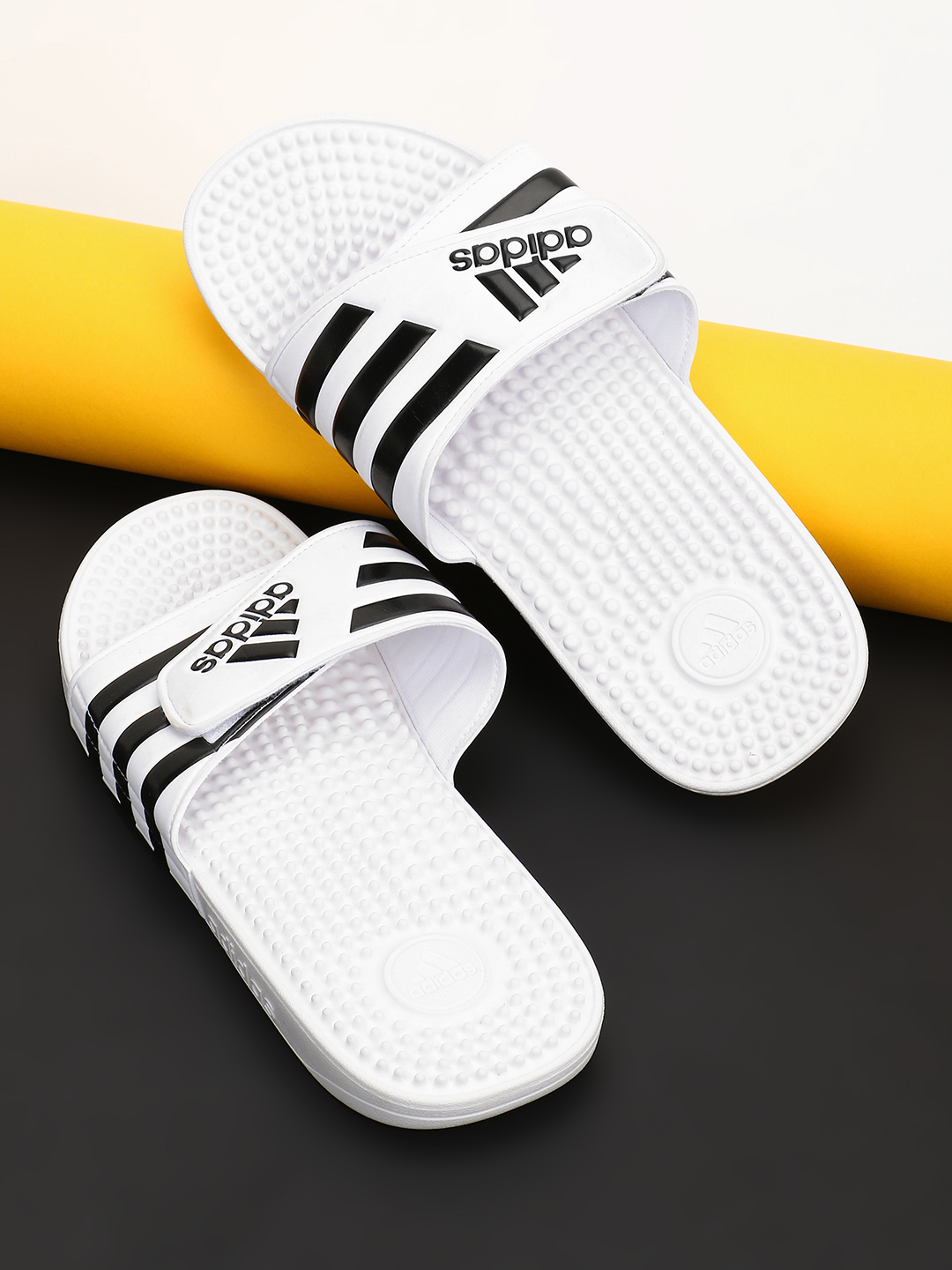 Adidas White Adissage Training Slides 1