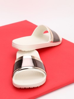 Crocs Sloane Metallic Strap Slides