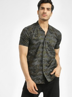 AMON All Over Print Cuban Collar Shirt