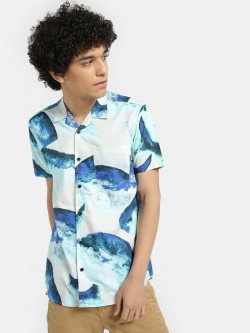 AMON Watercolour Whale Print Shirt