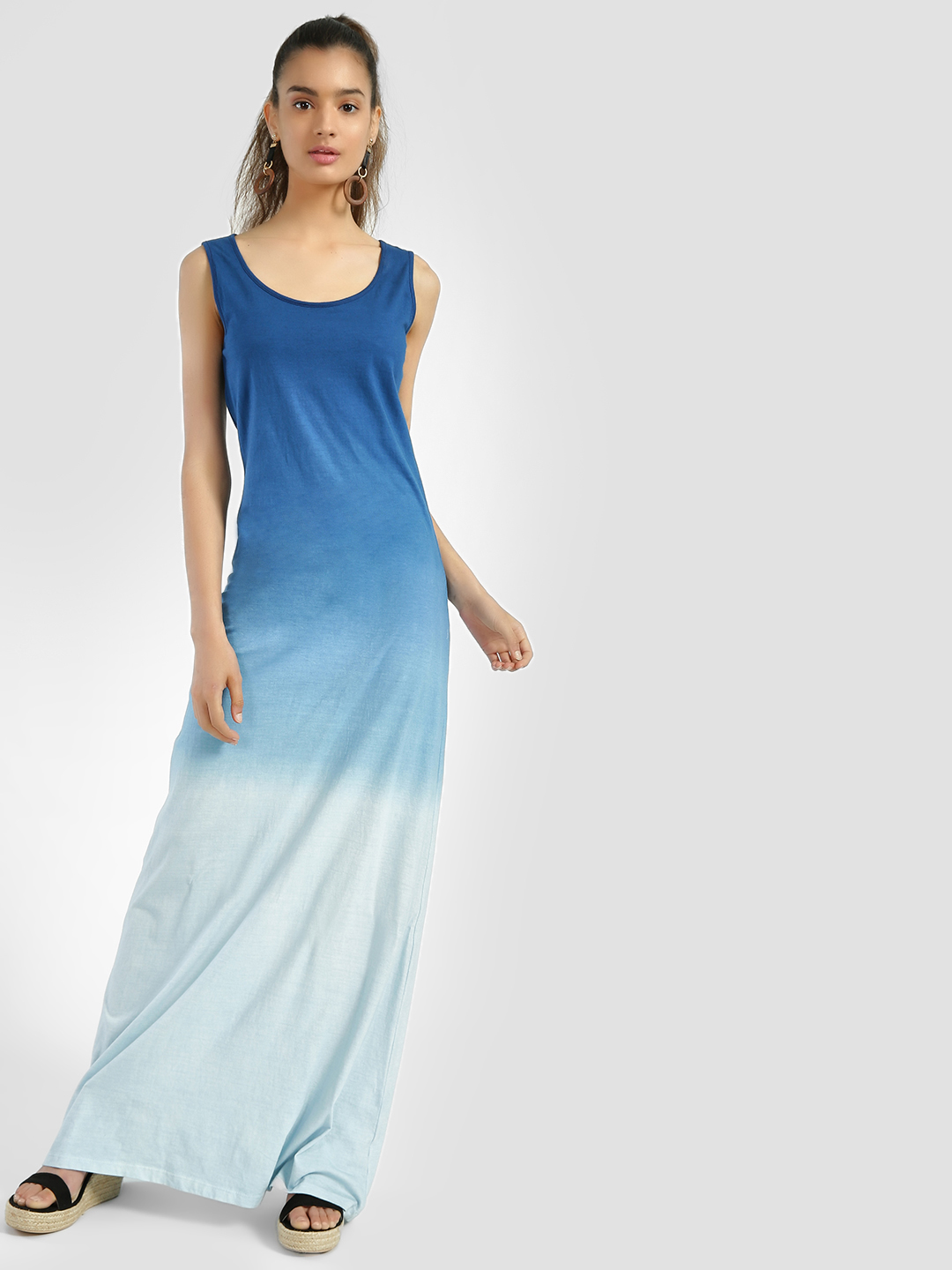 Sbuys Blue Ombre Sleeveless Maxi Dress 1