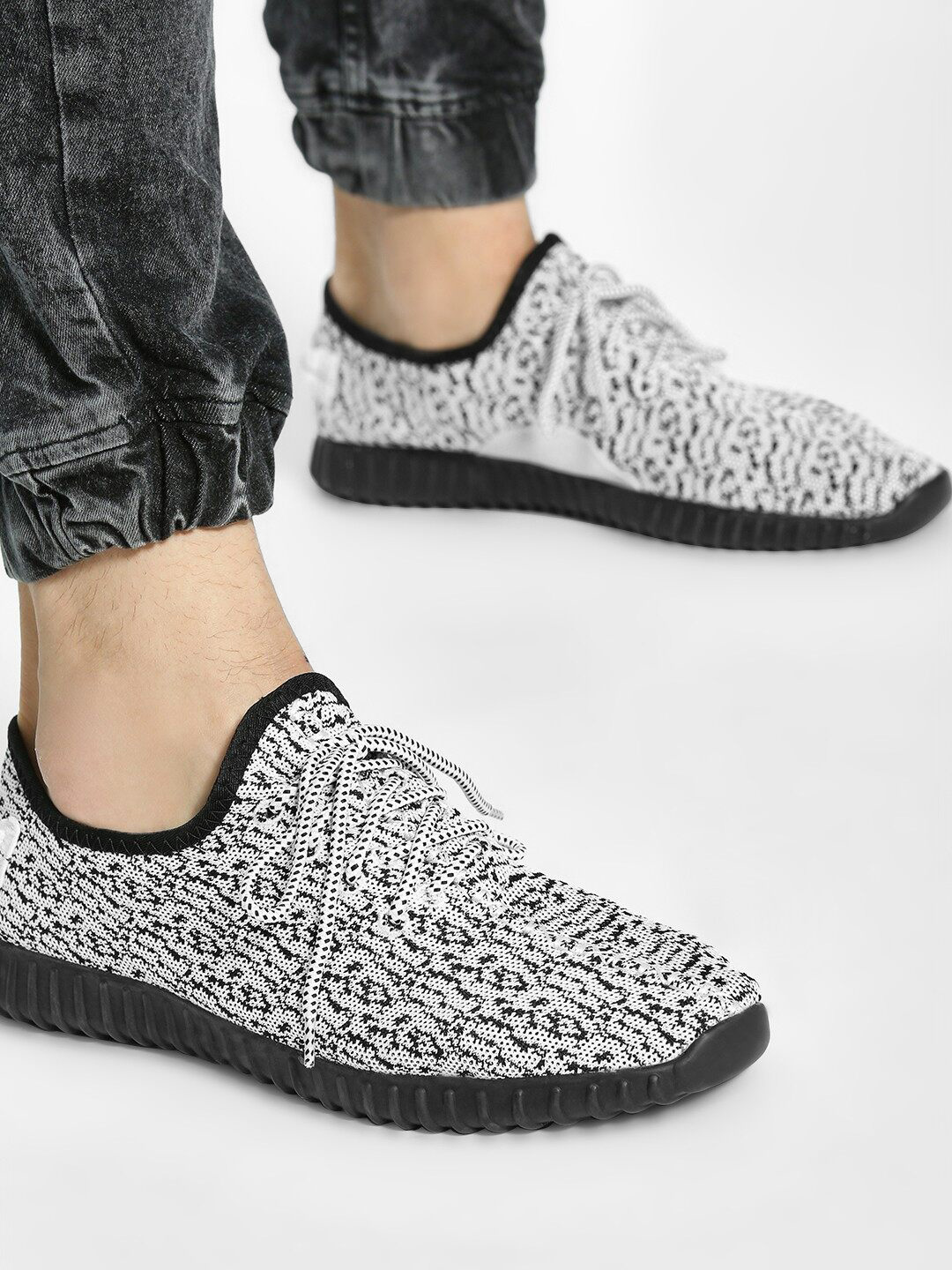 KOOVS Multi Camo Knitted Lace-Up Shoes 1