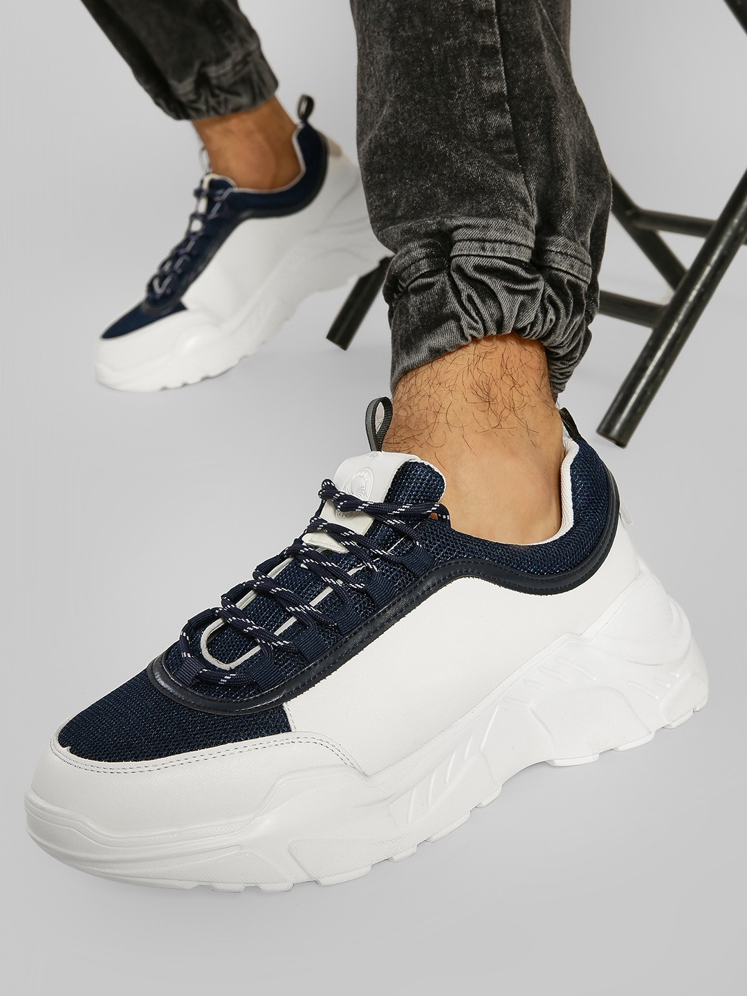 KOOVS Multi Knitted Panel Chunky Sole Trainers 1