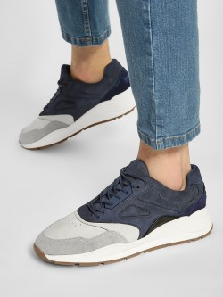 KOOVS Colour Block Suede Panelled Sneakers