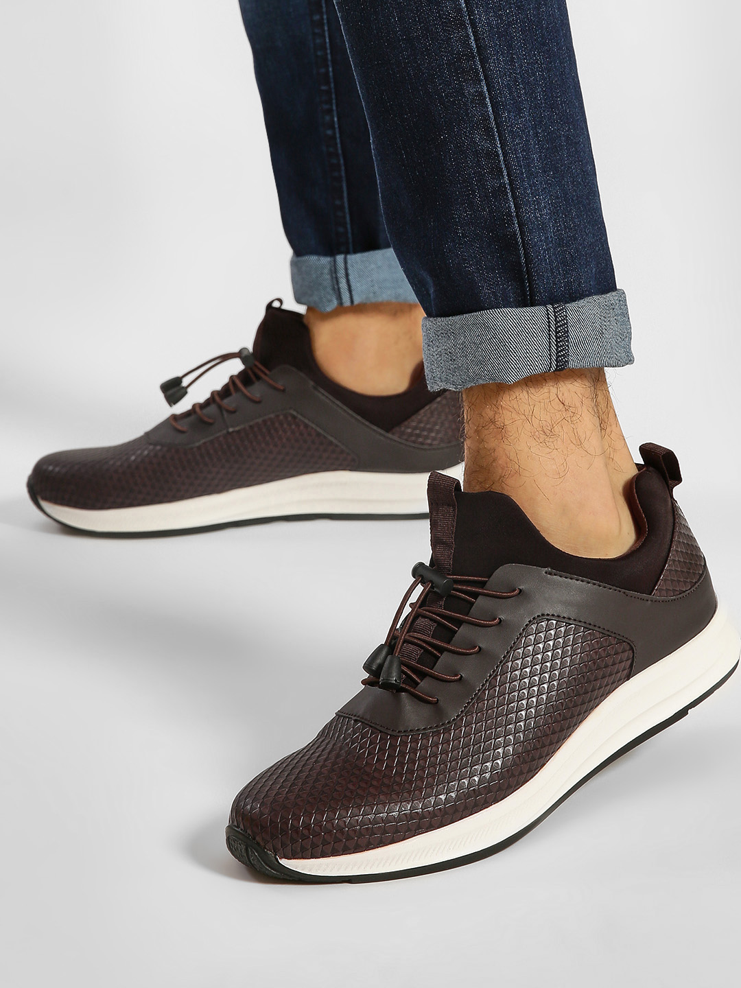 Kindred Brown Basket Weave Casual Shoes 1