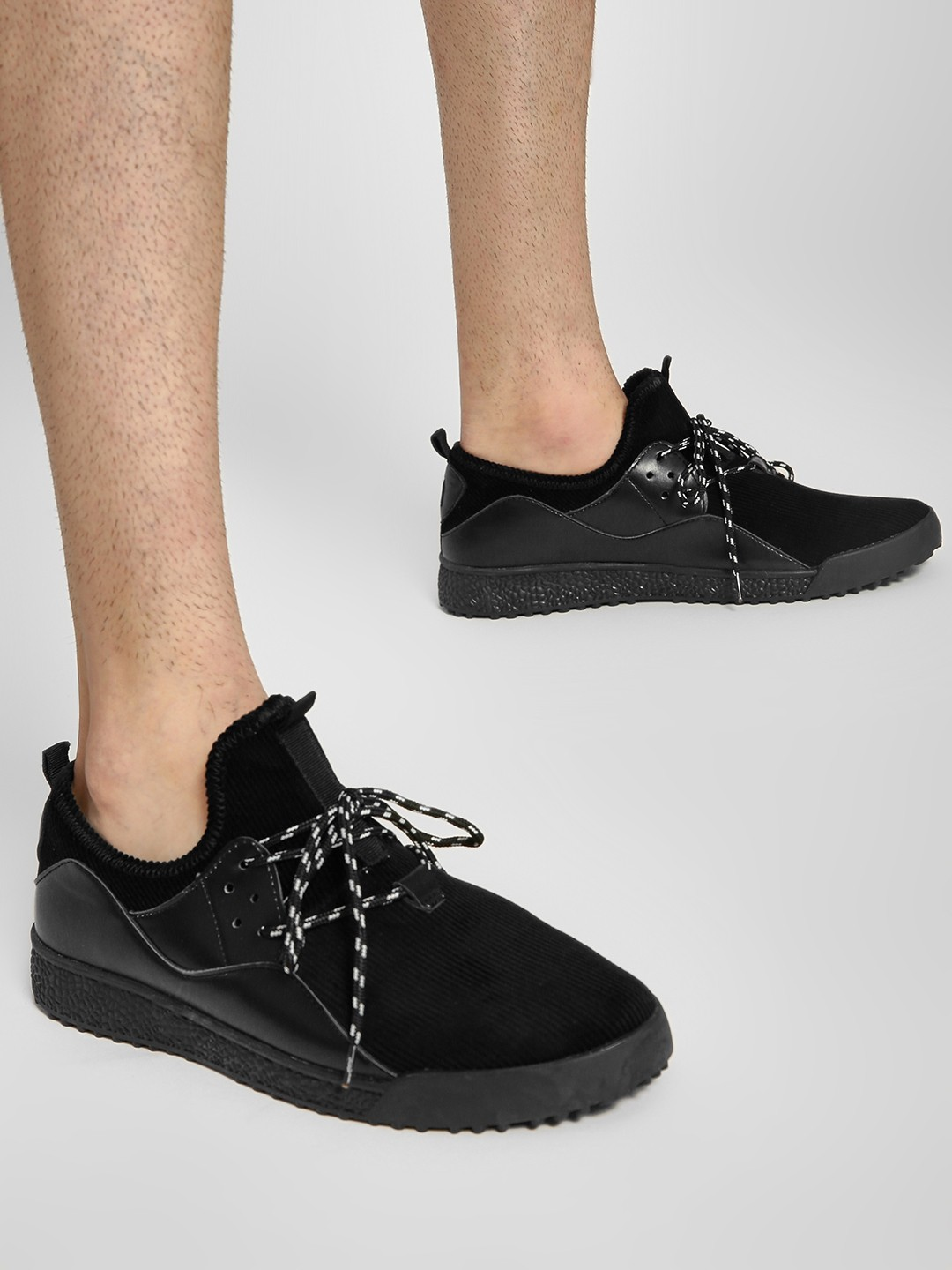 Buy Kindred Black Corduroy Casual Shoes