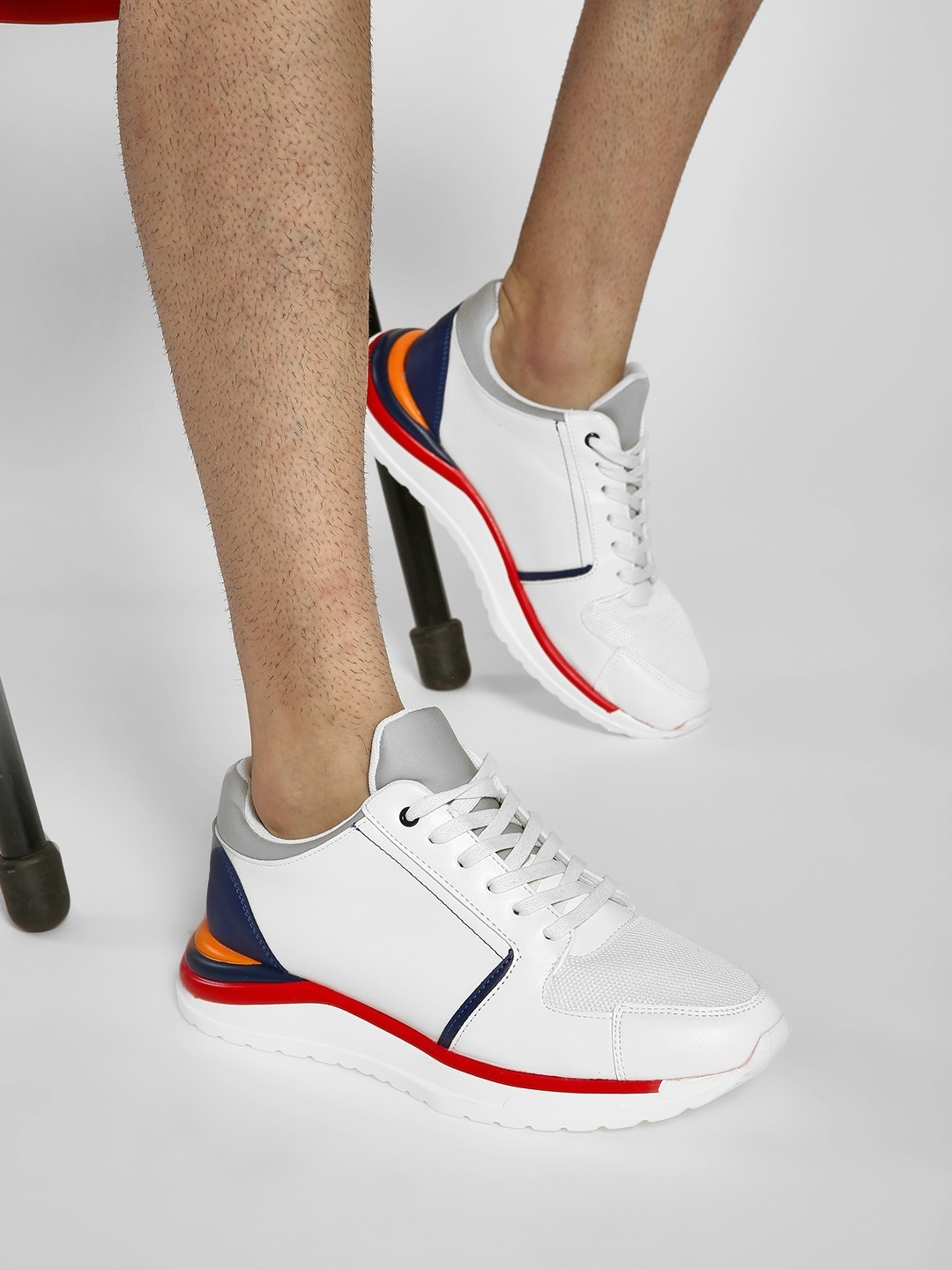 Kindred White Colour Block Panelled Sneakers 1