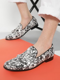 Griffin Floral Print Tassel Loafers