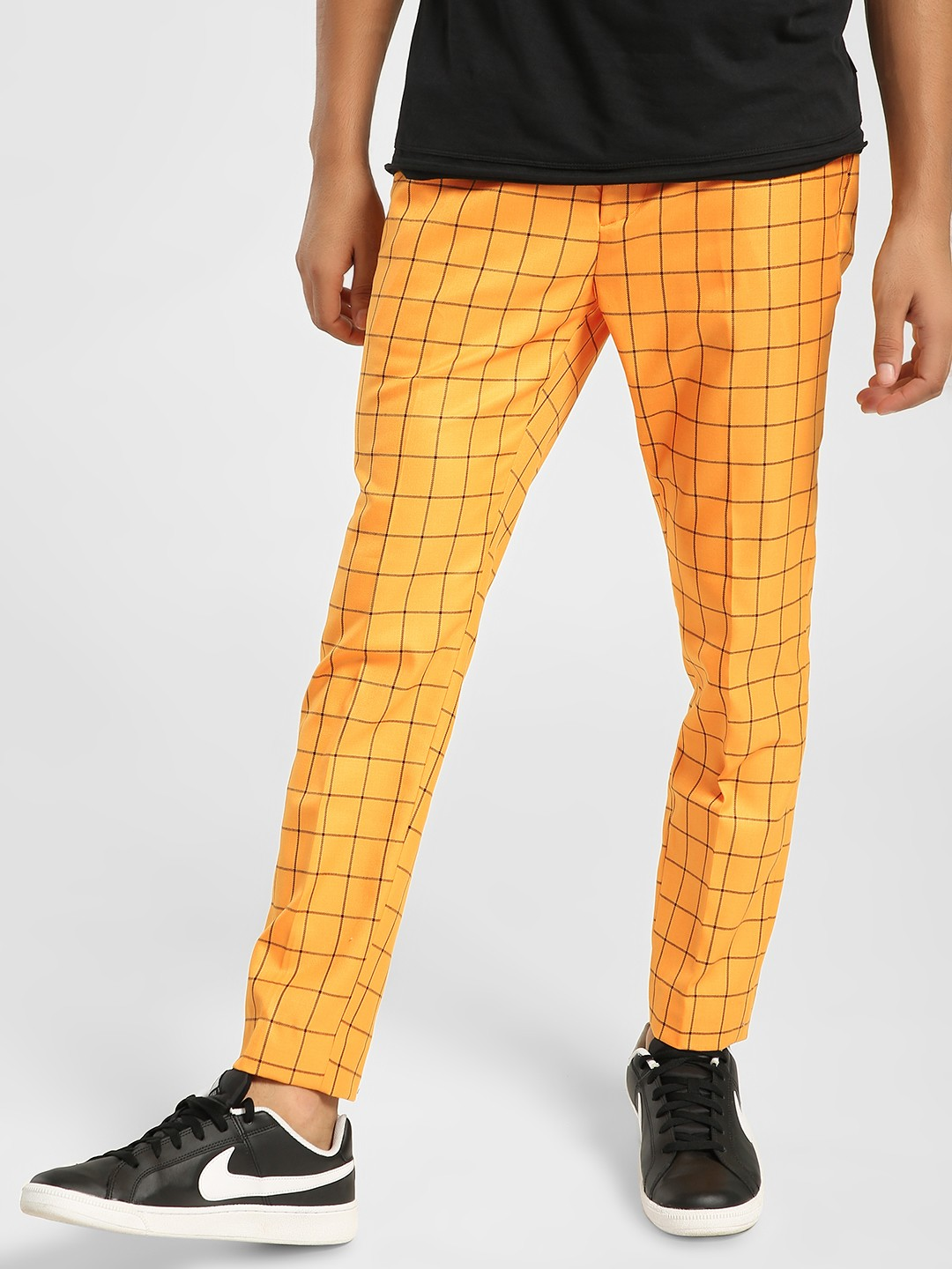 KOOVS Multi Windowpane Check Smart Trousers 1