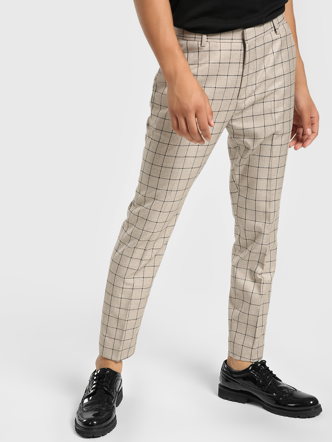 KOOVS Multi Windowpane Check Formal Trousers 1